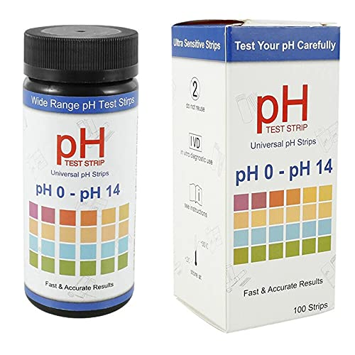BITOWAT 100 Strips Soil pH Testing Kit, Soil Test Strips, Tests PH Strips...