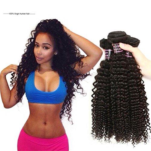 MSKAY-EXTENSION Extensions de Cheveux 3Bundles Cheveux Weave 7A Non Transformé brésilienne Kinky Curly Virgin Top Selling Virgin brésilienne Kinky Curly Hair 300g Natural Color, 24 inches