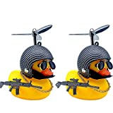 LED Lighting Car Rubber Duck with Helmets Cool Duck (Model5)