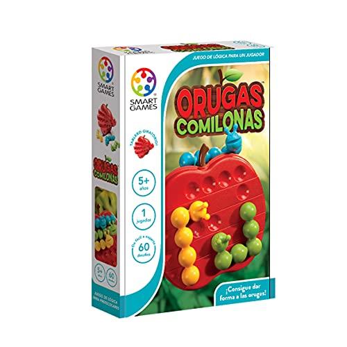 smart games Orugas Comilonas, Juego Educativo para niños, Rompecabezas, Juegos de Mesa Infantiles, Juguetes para niños, smartgames, Juguete Puzzle para pequeños, SG445ES