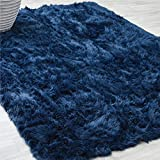 lalaLOOM Premium Faux Fur Area Rug, 3x5 Feet, Grip Backing, Washable, Incredibly Soft, Comfortable...