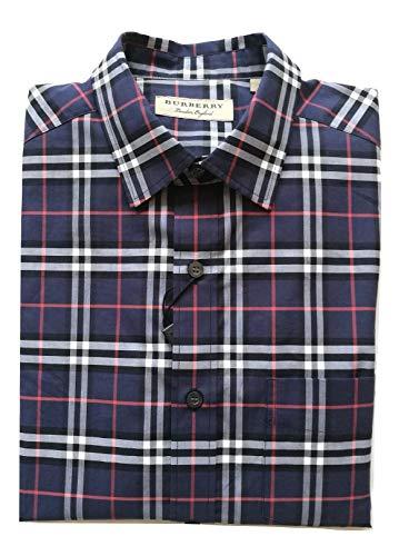 BURBERRY - Camisa de Manga Larga de algodón para Hombre Alexander 80031051 Azul Marino