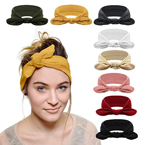 DRESHOW 8 Pack Women#039s Headbands Headwraps Hair Bands Bows Accessories