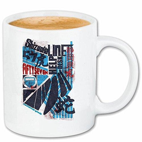 Taza párrafo café MÚSICOS ESTILO HARD ROCK MUSIC BAND BANDA CAMISETA PINTADA cerámica Altura 9.5 cm de diámetro de 8 cm de Blanco