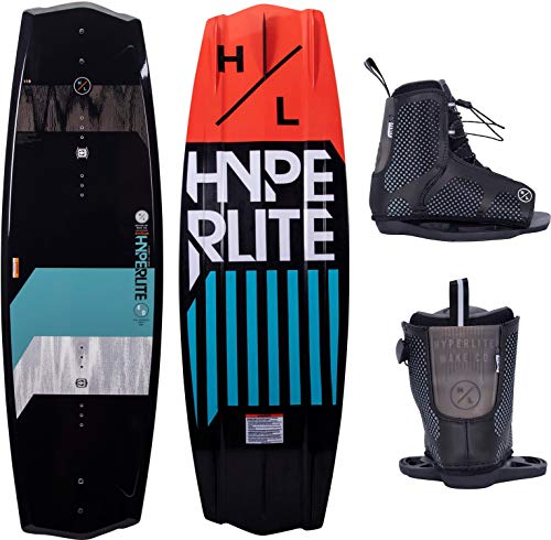 Hyperlite State 2.0 Mens Wakeboard 140 W//Remix Bindings Black/Teal