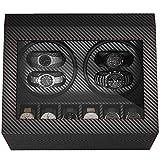 CRITIRON 4+6 Automatic Watch Winder Carbon Fibre Watches Winding Display Box Storage Case
