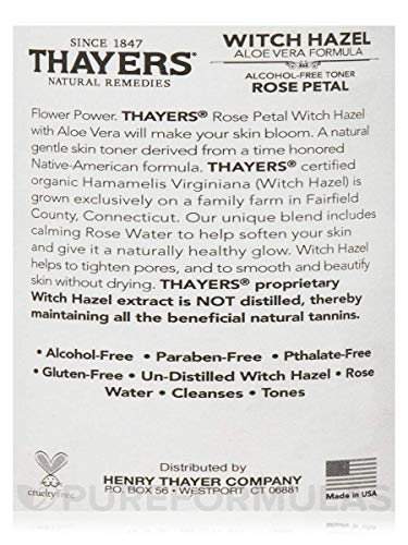Thayers Rose Petal Witch Hazel with Aloe Vera Formula, 12 oz.(2 Pack)