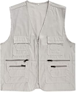 Mens Multi-Pockets Outerwear Camping Photography Vests Gilet
