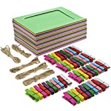 Juvale Cardboard Paper Picture Frame DIY Hanging Kit (50 Pack) 4x6 Inch, 10 Colors
