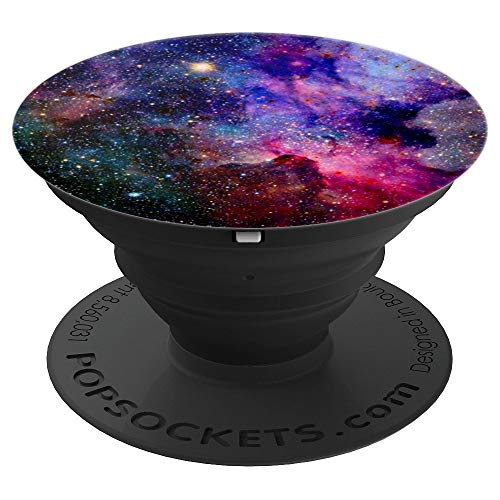 Purple Red Galaxy Space Nebula PopSockets Grip and Stand for Phones and Tablets