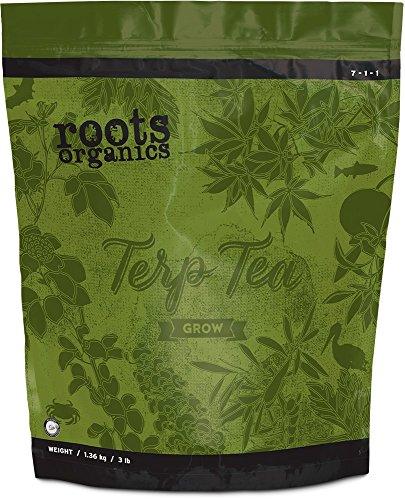 Roots Organics Terp Tea Grow, Micronized Organic Fertilizer with Beneficial Bacteria and Mycorrhizae, 7-1-1 NPK, 3 lb.