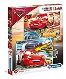 Clementoni- Disney Cars 2 Puzzles 60 Piezas Cars3 (07131.9)