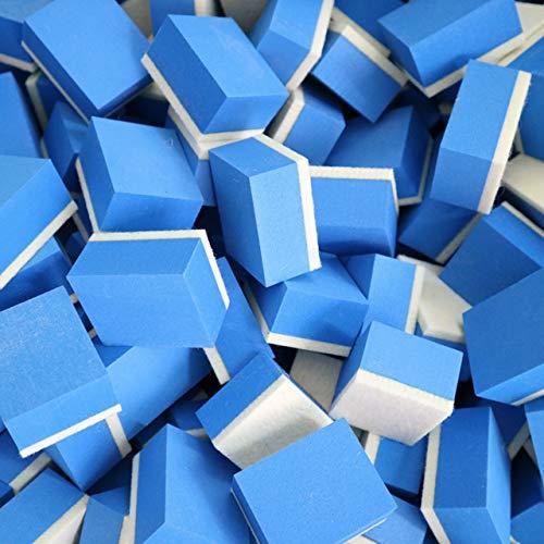 Copeflap ウロコ取り スポンジ 10個セット コンパウンド 車 窓 ガラス コーティング 油膜取り 油膜とり (ブルー, S)
