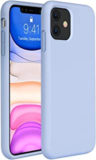 Miracase Liquid Silicone Case Compatible with iPhone 11 6.1 inch(2019), Gel Rubber Full Body Protection Shockproof Cover Case Drop Protection Case (Clove Purple)