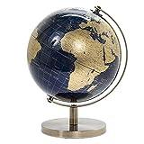 lesser & pavey lp44777 - globo girevole vintage con supporto in metallo, per scrivania e ufficio, 27 cm
