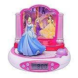 Lexibook Disney Princesses Cendrillon Radio réveil projecteur, Veilleuse intégrée, projection de l'heure au plafond,...