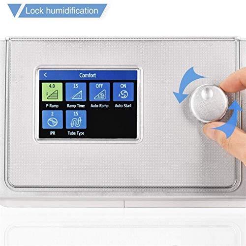 HXJ Anti-Schnarch-Geräte Ausrüstung, Luftreiniger Schlafmittel mit Nasenmaske Vollgesichts for Schlaf-Apnoe 327 (Size : APAP)
