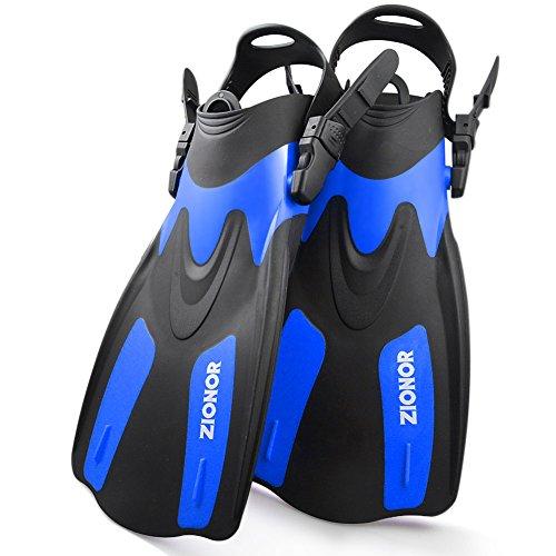 ZIONOR F1 Immersione Pinne Open Heel Leggero Strong Propulsione Regolabile Tracolla Staccabile per Snorkeling e Immersioni