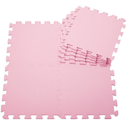 Pu Ran Puzzle-Spielmatte für Baby und Kleinkinder, rutschfeste Bodenmatte aus EVA-Schaumstoff, 10 Stück Einzelteile zu je 30x 30cm