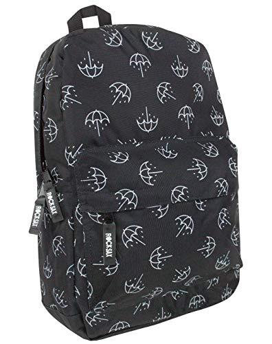 Bring Me The Horizon RockSax Umbrella Print BMTH Backpack Black & White