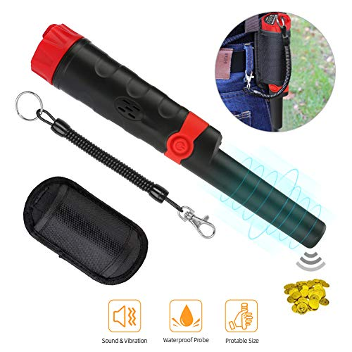 Winkeyes Pinpointer Metal Detector IP68 Waterproof 360° Metal Detectors with LED Indicators, Holster, Buzzer Vibration Sound (Four Modes), 9V Battery and Package Included Detectors Metal