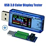 USB 3.0 Power Meter Tester USB load Digital Multimeter Current Tester Voltage Detector DC 30.00V 4.000A Test Speed of Charger Cables QC 2.0/3.0 AP 2.4A (AT34+Load(FREE delivery))