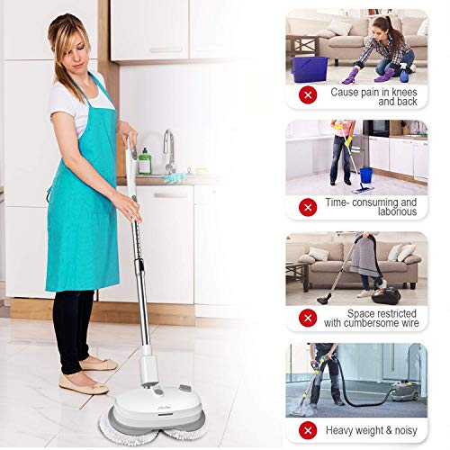 Floor Cleaner Wireless Electronic Spray Mop,Sweeper Handheld Mop