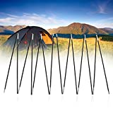 Tent Pole Kit Camping al aire libre Fiber Glass Rod Tienda doble Foldable Tent Support Frame Kit Portable Lightweight Carpa de repuesto postes