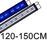 Boomersun Klassik LED Aquarium Beleuchtung, Aquarium LED Lampe mit Mondlicht, LED Licht für Süßwasser-Aquarien 120-150cm