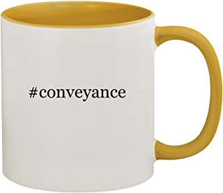 #conveyance - 11oz Hashtag Ceramic Colored Inside & Handle Coffee Mug, Golden Yellow