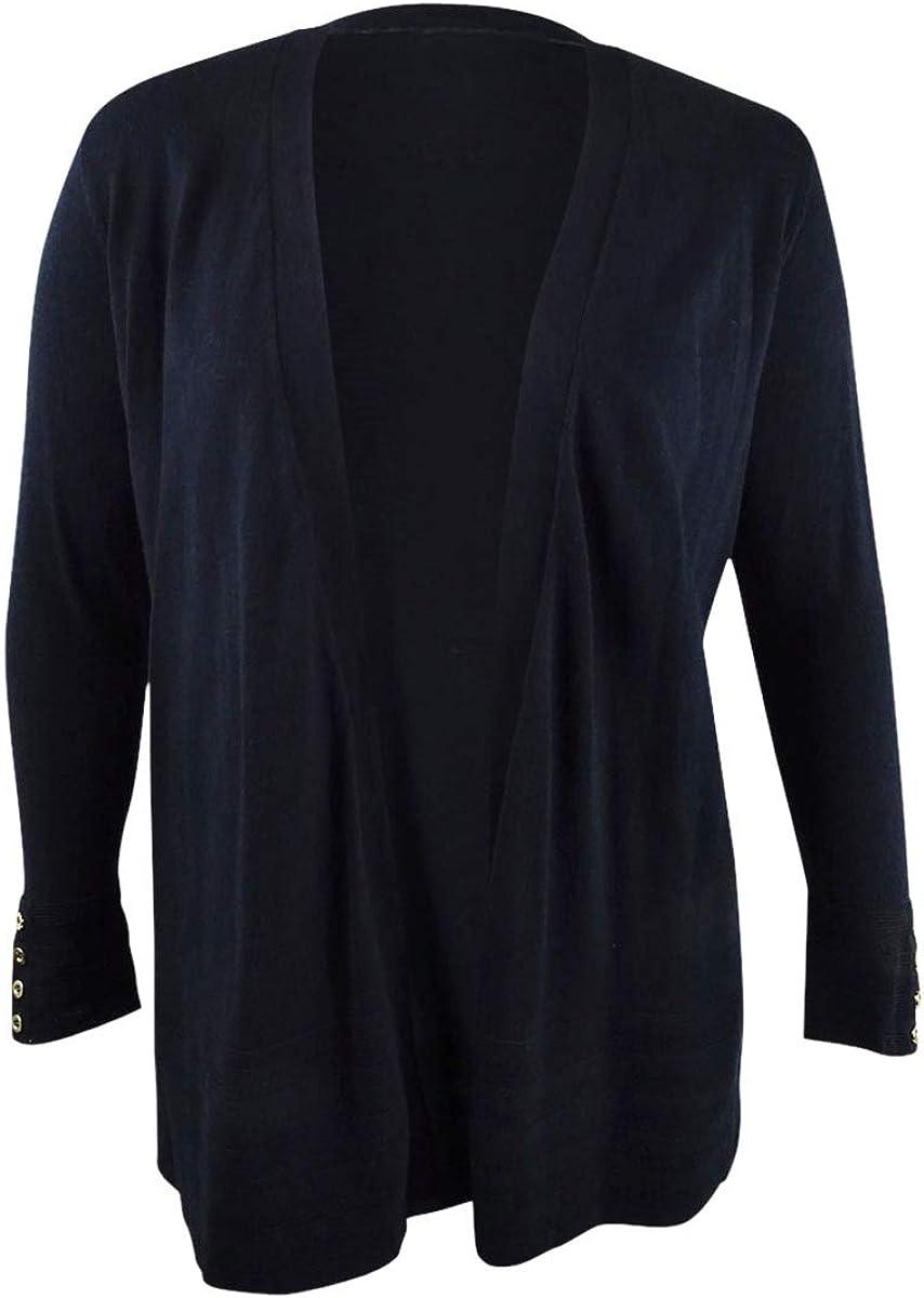 Charter Club Women's Plus Size Pointelle-Trim Completer Cardigan