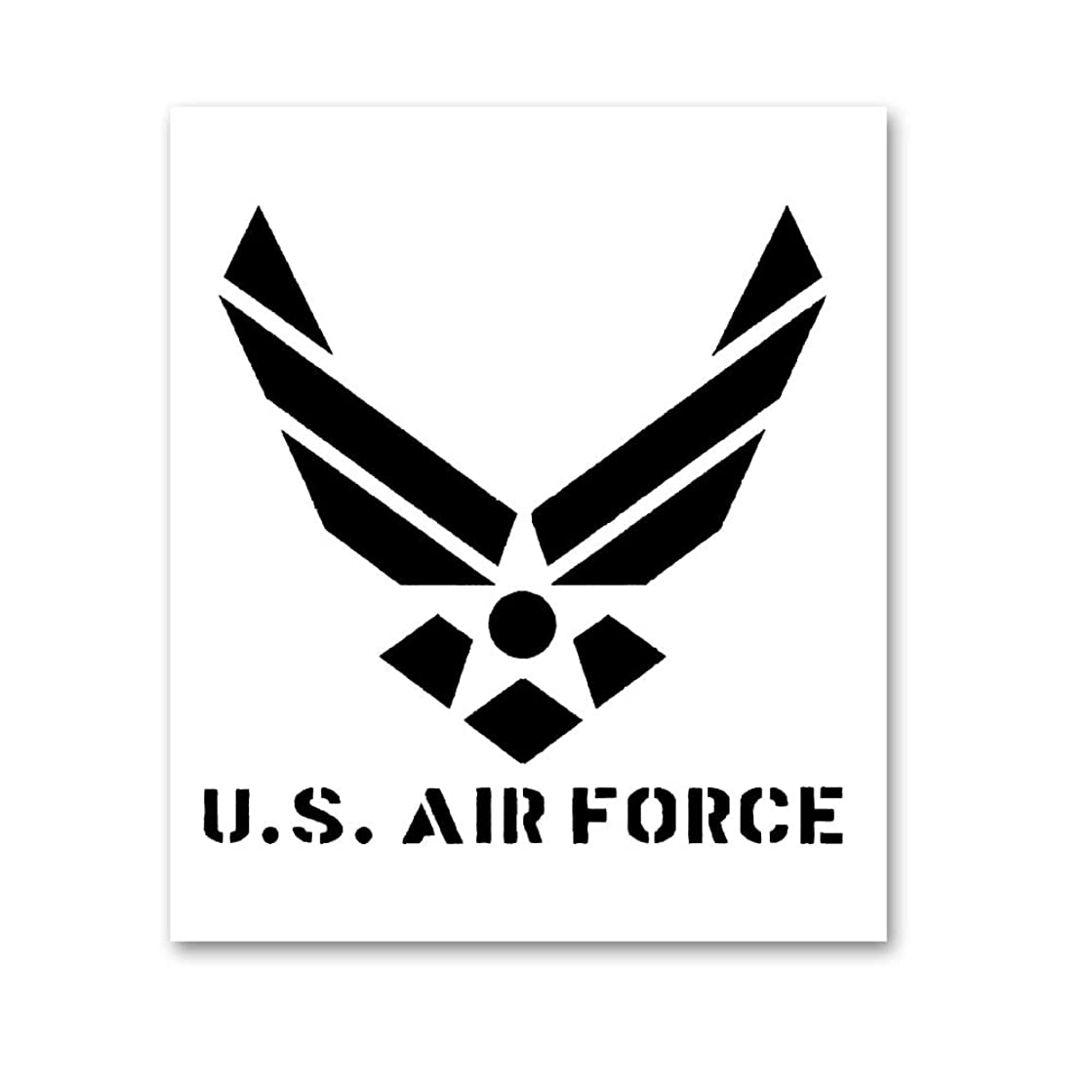 AxPower Large U.S Air Force Painting Stencil for Painting on Wood Fabric Walls Airbrush Reusable Mylar Template 12 x 14 inch (USAF Military Logo)