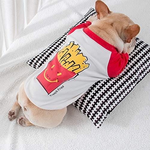 N/A Ropa para Perros Ropa De Verano para Mascotas Chaleco De Algodón A Rayas para Perros Camiseta Suave Transpirable para Perros Pequeños Mascota Grande Mediana Pequeña Primavera Verano Transpirable