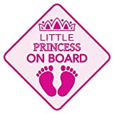 KCHEX Little Princess ON Board Magnet Baby Car Sign