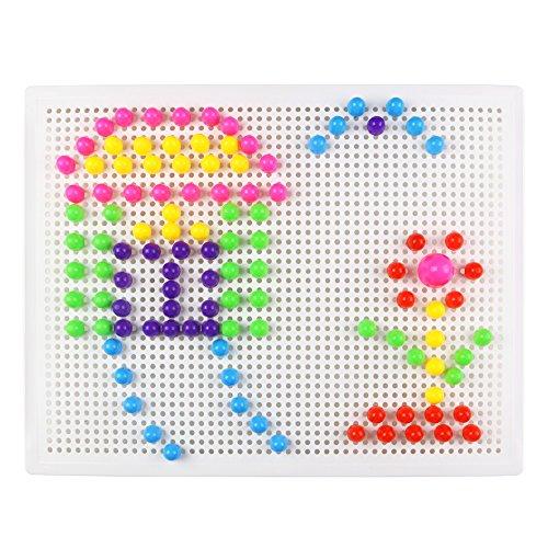 Fajiabao Rompecabezas Tablero con Setas de Clavijas Caja Juguetes Bricolaje Conjunto para Niños de 3 Años+(184PCS)