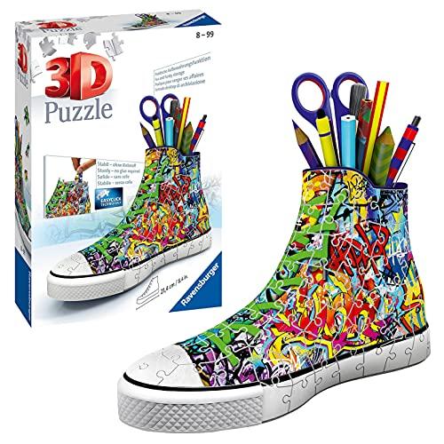 Ravensburger- Puzzle 3D Sneaker Graffiti Style, RAP125975