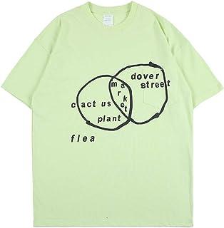 Arnodefrance Hip Hop Rapper Letter Streetwear T-Shirt Short Sleeve Shirt Cotton Crewneck Tee Shirt