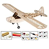 Dancing Wings Hobby S0804B RC Airplane 4CH Radio Remote Controlled Electronic Aircraft Balsa Wood Plane Model Wingspan 1180mm J3 Kit + Power System + Covering