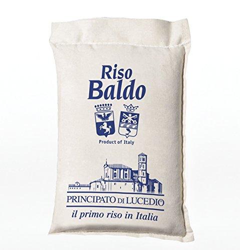 Principato di Lucedio - BALDO Rice - 1 kg - in Zellophan-Beutel mit Schutzatmosphäre und Sack Leinwand