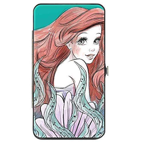Wallet Hinged PU The Little Mermaid Ariel Over Shoulder2 Flounder Sketch Poses