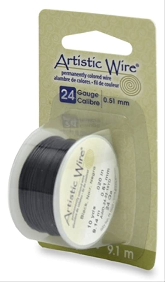Beadalon Artistic, 24 Gauge, Black Color, 10 yd (9.1 m) Craft Wire,