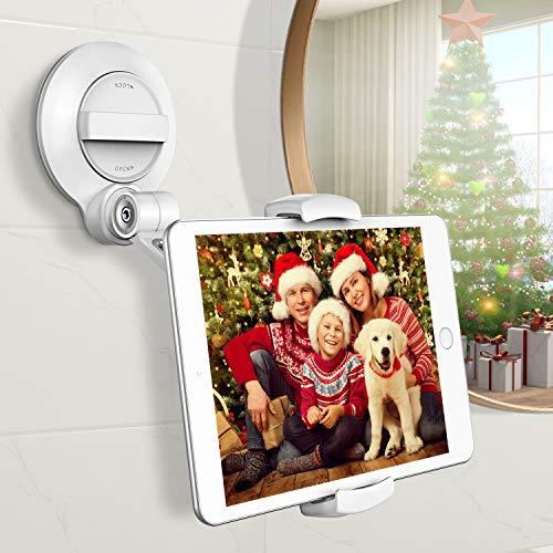 Cocoda Tablet Halterung mit Starkem Saugnapf, 360 °Drehbarer Universeller Tablet Ständer Kompatibel mit iPhone/iPad/Fire HD/Phone/Tablet mit 4~11 Zoll, für Spiegel/Fenster/Wände/Küche/Tische/Autos