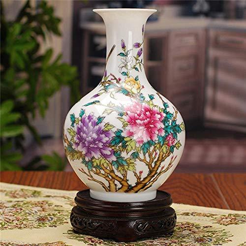 LLAAIT Jarrón Antiguo de Porcelana China Decoración clásica para el hogar Floreros de cerámica Blancos y Azules Hechos a Mano, 4