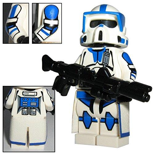 Custom Brick Design 501st Legion ARF Scout Clone Trooper Boomer Figur - modifizierte Minifigur des bekannten Klemmbausteinherstellers und somit voll kompatibel zu Lego