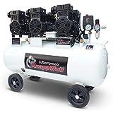 Compresor silencioso KnappWulf, nueva generación, compresor de presión de aire KW2200 con caldera de 100 l, 3 motores de 980 W