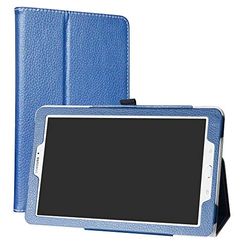 Mama Mouth Samsung Galaxy Tab E 9.6 Case, PU Leather Folio 2-folding Stand Cover with Stylus Holder for 9.6' Samsung Galaxy Tab E 9.6 T560 T561 Android Tablet,Dark Blue