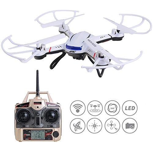 Kingtoys JJRC H12CH RC Drone Quadcopter Kit Video & Foto,funzione stabilitàaltezza con Camera in HD Giroscopio a 6 Assi, Modalità Headless Ritorno a casa Automatico, Telecomando 2.4GHz