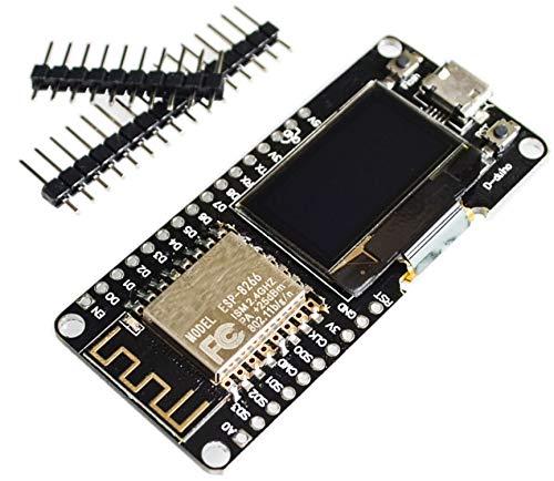 TECNOIOT ESP8266 ESP12F OLED NodeMCU WiFi WeMOS Development Board  ESP8266 ESP12F OLED NodeMCU WiFi WeMOS Junta de Desarrollo