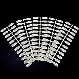 Noverlife 600PCS punte piatte per unghie finte per libri con display a colori per unghie, punte per unghie finte per campioni di campioni di campioni di smalto per unghie in gel UV
