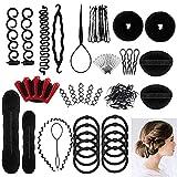 Accessoires de Coiffure,25 Styles Outils de coiffure Kit de Coiffure pour...